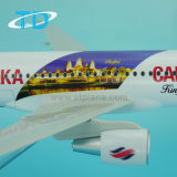 1/100のスケールA320 Bassakaの空気模型飛行機の樹脂のおもちゃ