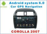 Новый автомобиль GPS Android 6.0 Ui на Toyota Corolla 2007 с навигацией