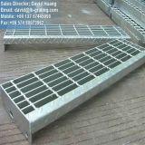 Semelle d'escalier galvanisée râpant pour l'échelle en acier