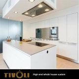 予算の台所デザインMDFのメラミン食器棚および台所家具(AP145)