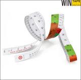 熱い販売の使い捨て可能な印刷できる医学のペーパー測定テープ定規(PT-012)