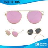 2017 lunettes de soleil polarisées par bâti rond le plus neuf en métal de lentille de modèle de mode