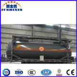 ISO 기준 탄소 강철 20FT 40FT HCl 산성 화학 액체 탱크 콘테이너