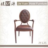 Butaca de aluminio del restaurante del hotel del final de madera (JY-L35)