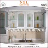 Gabinete de cozinha branco do MDF da membrana do PVC do clássico