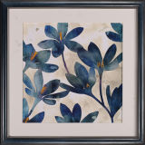 Pintura del estilo chino flor de pared arte en el marco de madera