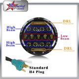 """卸し売りジープのラングラーTj/Cj/Jk/LjハンマーH1 H2のジープのラングラーLEDヘッドライトのDayrimeの連続したライトのための点SAE 9-32V 75W Osram 7 """" LEDのヘッドライトDRL"""
