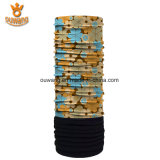 Insignia de encargo multiusos de la impresión que completa un ciclo el pañuelo elástico del paño grueso y suave