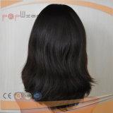 Virgin Human Heathy Hair Skin Top Perruque Black Color Women