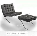 바르셀로나 실제적인 가죽 의자, 여가 의자, 스테인리스 프레임 의자 a-22