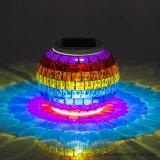 Luz de vidro solar da noite do mosaico