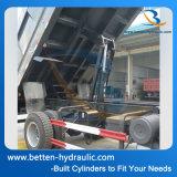 액압 실린더를 끼워넣는 덤프 트럭 상승