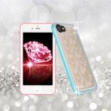 Diamand 패턴 방수 더하기 iPhone 7을%s 투명한 이동 전화 3D 물 입방체 뒤표지 케이스 (RPDIA7P)