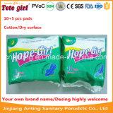 De Maandverbanden van het Merk van het Meisje van de hoop, 10+5 Sanitaire Stootkussens van PCs, de Vrije Voeringen van het Damesslipje