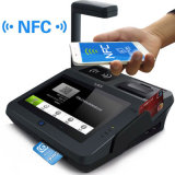 Sistema terminal de la posición del pago móvil con el programa de lectura de clave de barras y el módulo de RFID