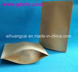 Bolso plástico de papel Ziplock de la hoja