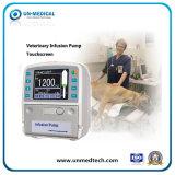 Bomba de infusão veterinária com touchscreen