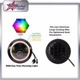 Водоустойчивая IP67 фара дюйма 50W RGB наивысшей мощности 7 для фары Wrangler виллиса фара высоких и низкого уровня луча СИД круглая с кольцом венчика RGB