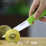 Couteau de épluchage en céramique portatif de fruit d'usine d'OEM Chine avec la couverture