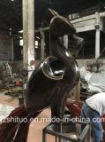 Het openlucht Decoratieve Zwarte Goud van het Beeldhouwwerk van de Pauw van het Brons van het Metaal