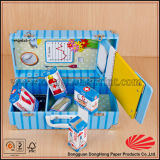 Contenitore di regalo a forma di valigia elegante del cartone con la maniglia di trasporto