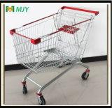 180 Liter des europäischen Einkaufswagen-Mjy-180b-E mit Höhenruder-Fußrollen Mjy-180b-E
