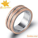 Exsr66b 형식 핑거 보석 금 반지는 핑거 검정을 돈다