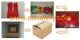 Перчатки Латексные Длиные Красные Хозяйственные с CE (DHL442)