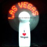 Ventilador de la mano de 2017 aduanas LED con insignia impreso (3509)
