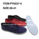 女性のアフリカの市場のための偶然のズック靴のスポーツの靴
