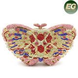 La mariposa pura Stone&Rhinestone cristalino de Handmake de los bolsos de tarde de la manera empaqueta Leb740