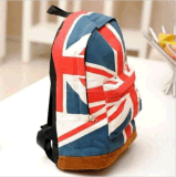 Tela di canapa britannica BRITANNICA dello zaino del sacchetto di banco della spalla dello zaino di stile del Jack del sindacato della bandierina