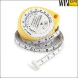 La mini altura médica pesa cinta métrica de la carrocería de la calculadora BMI