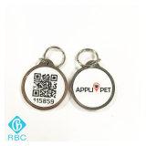 Het afgedrukte Qr Huisdier NFC van de Code Metal+Epoxy/Hond/Dierlijke Markering
