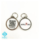 Etiqueta impresa del animal doméstico/del perro/animal del código Metal+Epoxy NFC de Qr