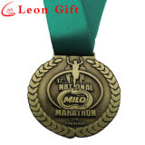 Kundenspezifische Zink-Legierungs-Antike-Goldmetallkonkurrierende Medaillen