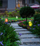 Heißes Reis-Licht-angeschaltenes Garten-hängendes Glasmaurer-Solarglas des Blinken-LED