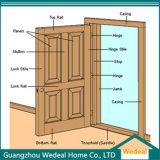 標準的な白によって塗られる内部の固体木のパネル・ドア