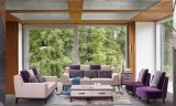 O projeto o mais atrasado do sofá da tela da madeira 2017 contínua