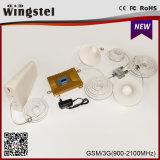 Impulsionador duplo do sinal da faixa GSM/WCDMA 900/2100MHz da venda quente com antena do Yagi