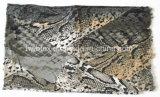 Animal clássico/senhora viscosa Lenço do estreito impressão de Snakeskin (HWBVS055)