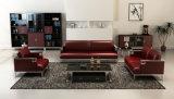Sofà di cuoio rosso, sofà di cuoio extra-lungo, sofà di cuoio moderno