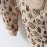 熱い販売の冬の中国からなされる印刷を用いる有機性綿のロンパース