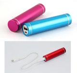Mini chargeur portatif de téléphone de côté de pouvoir de rouge à lievres 2600 heure-milliampère