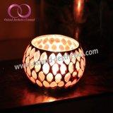 モザイク・ガラスの蝋燭ホールダー、ガラス奉納の蝋燭ホールダーの蝋燭のコップ