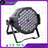 Salida 54X3W alto lumen LED PAR 64 Luz