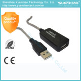 Schwarzer Farben-Mann zum weiblichen USB-Extensions-Kabel
