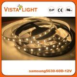 Lumière de bande flexible de SMD5630 12V RVB DEL pour des avants de bureau