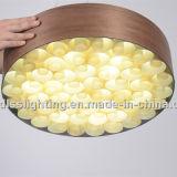 Lámpara pendiente del anillo de madera 2017 para la iluminación decorativa