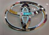 Exportação 3D ao ar livre luxuoso sadio que ilumina o logotipo inoxidável do automóvel do frame